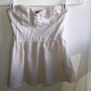 H&M Strapless white top